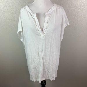 Tops - XL Ann taylor loft white blouse NWT